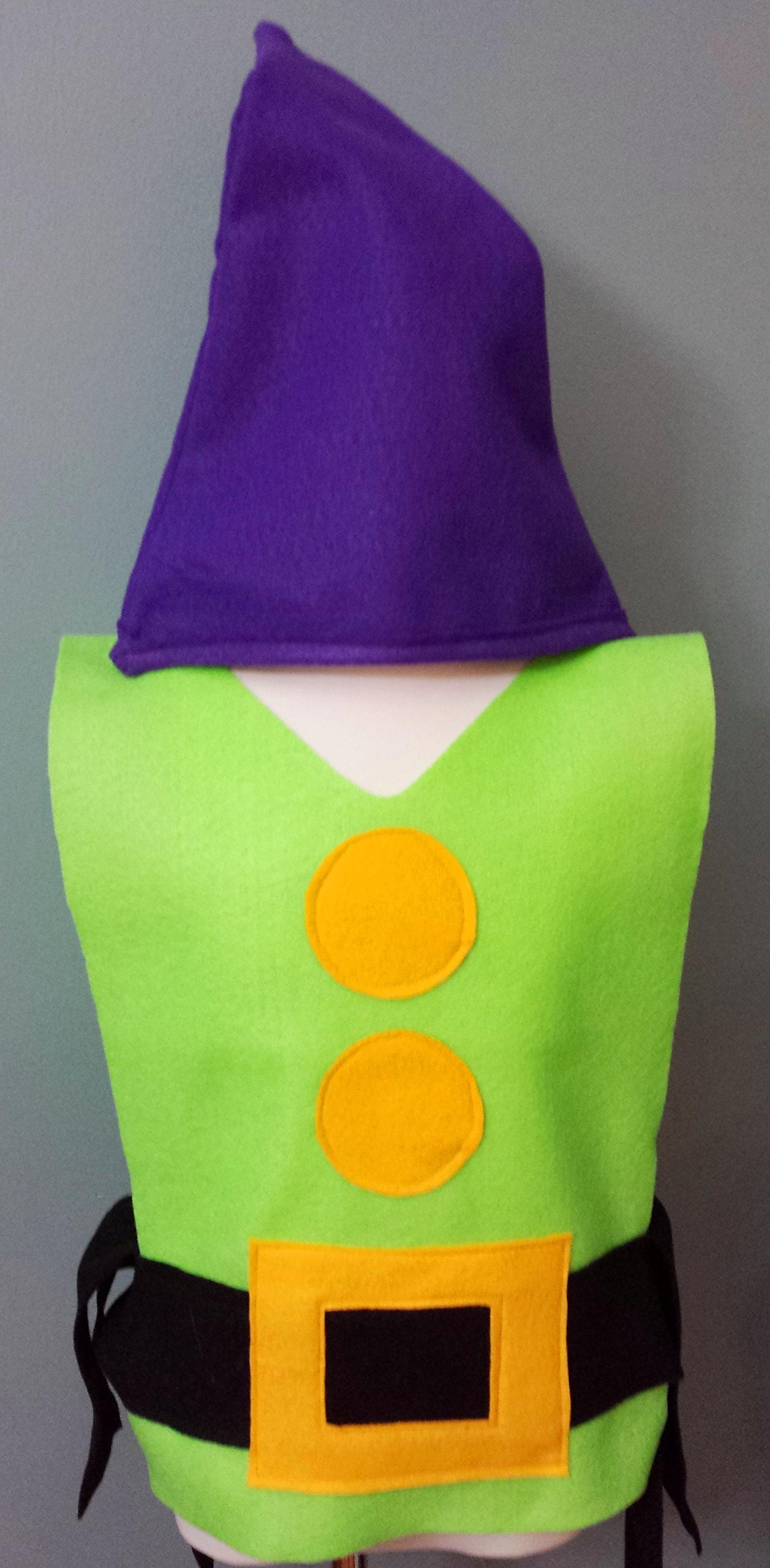 Kids Dopey Dwarf Costume Set (Snow White and the Seven Dwarfs) - Baby/Toddler/Kids/Teen/Adult Sizes by Teatots Party Planning