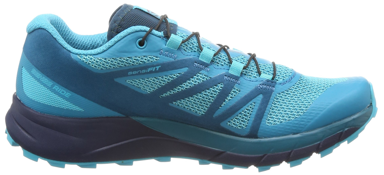Salomon Sense Ride Running Shoe - Women's Blue Bird/Deep Lagoon/Navy Blazer 7 by Salomon (Image #11)