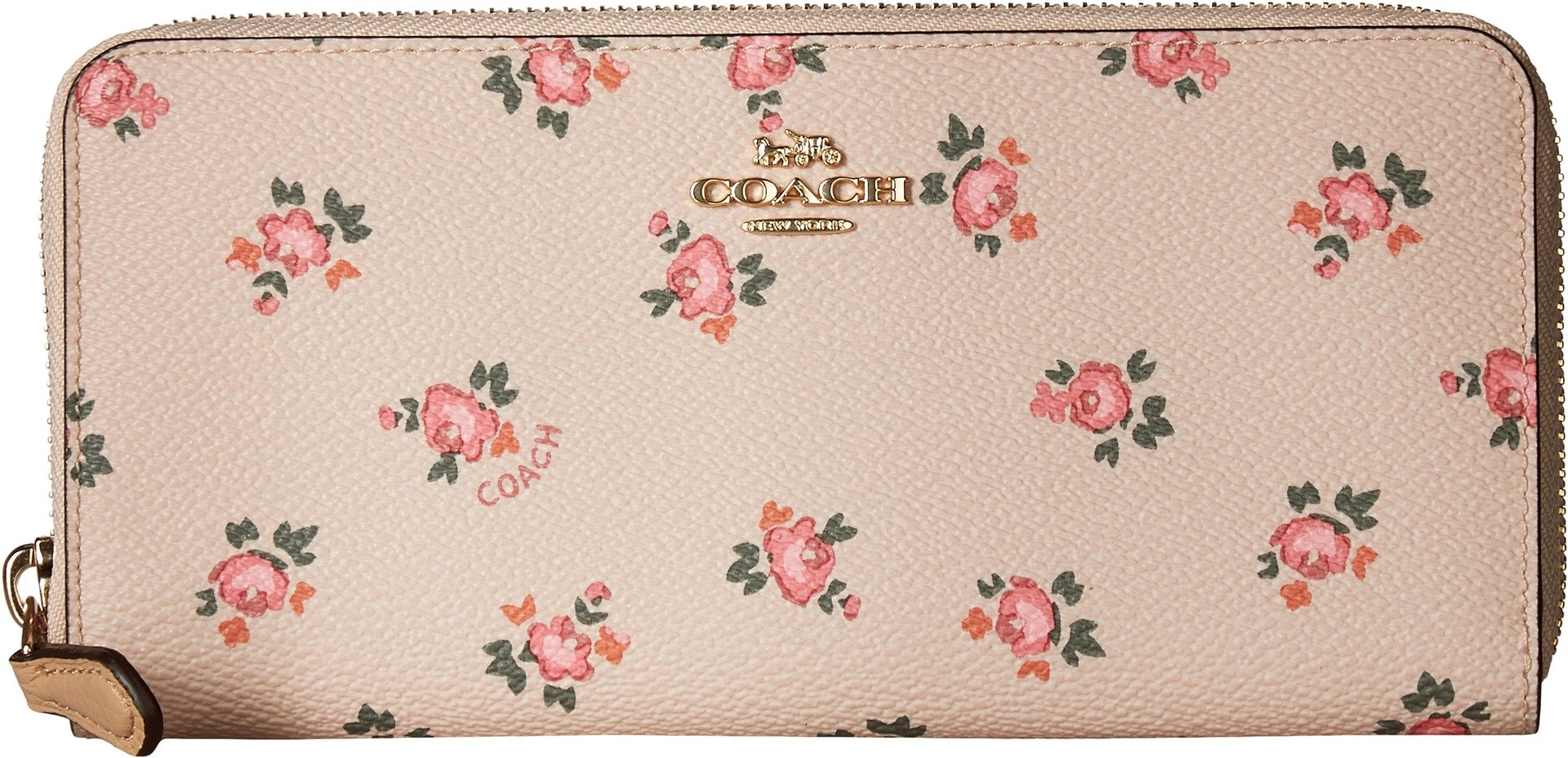 COACH Women's Accordion Zip Wallet With Floral Bloom Print Li/Beechwood Floral Bloom One Size by Coach