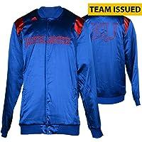 "$94 » University of Kansas Jayhawks Team-Issued Men's Basketball Blue Hardwood Classic Shooting Jacket From The 2015-2016 Season - Size 2XL +2""…"