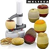 Melissa 16310174 Elektrischer Kartoffelschäler Apfelschäler Gemüseschäler Obstschäler Elektro Schäler für Obst & Gemüse