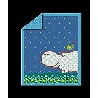 Tots by Smart Correpasillos 110–201Quilt Joy Hippo, azul