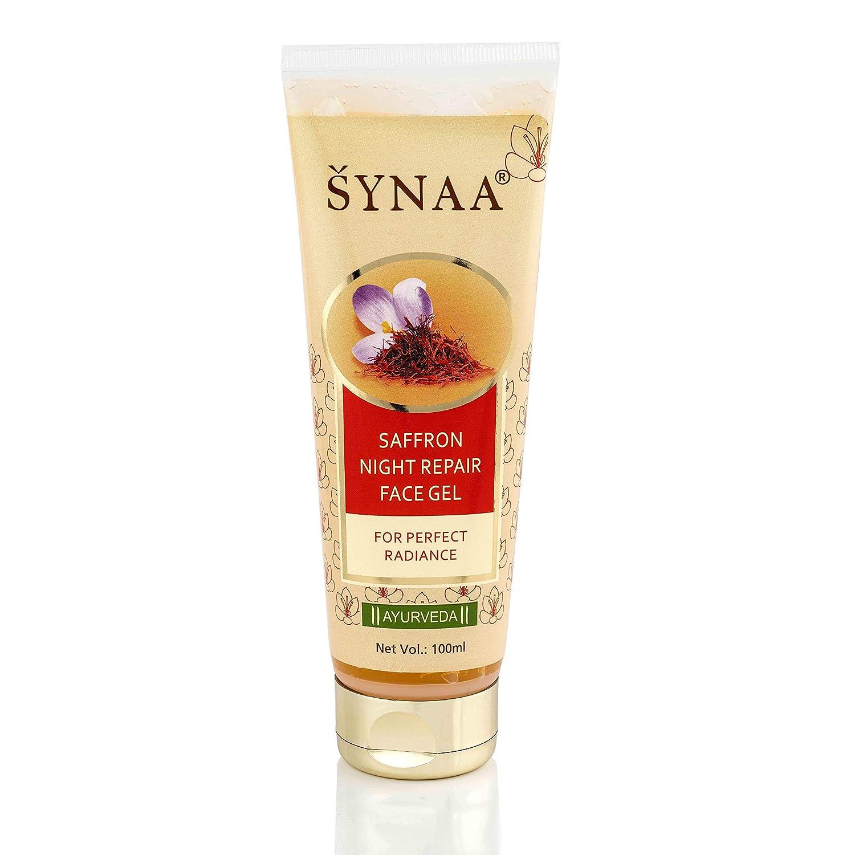 Synaa Anti Acne Saffron Night Face Gel -Natural Face Gel For Fairness Skin -100 ML