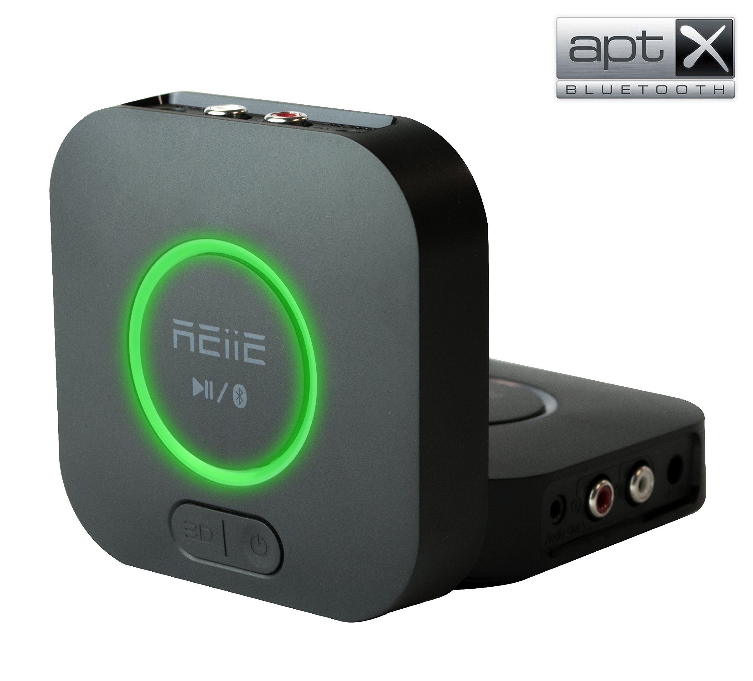 REiiE Audio Bluetooth Adapter Receiver with 3D Surround AptX Low Latency, V4.2 Wireless Audio Adapter for Home and Car Music Stereo Streaming(Pair 2 At Once) by REIIE (Image #1)
