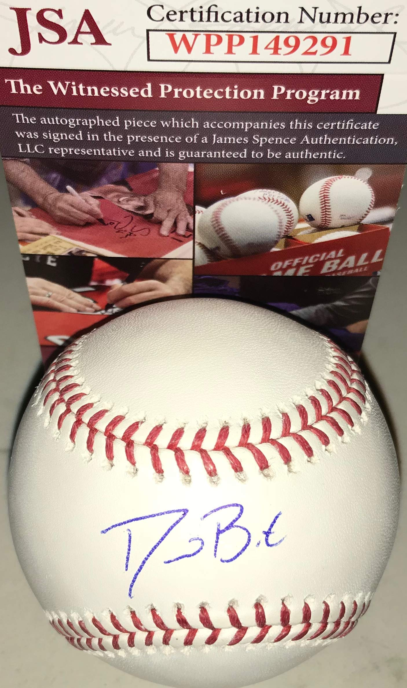 David Bote Chicago Cubs Autographed Signed Official Major League Baseball JSA WITNESS COA