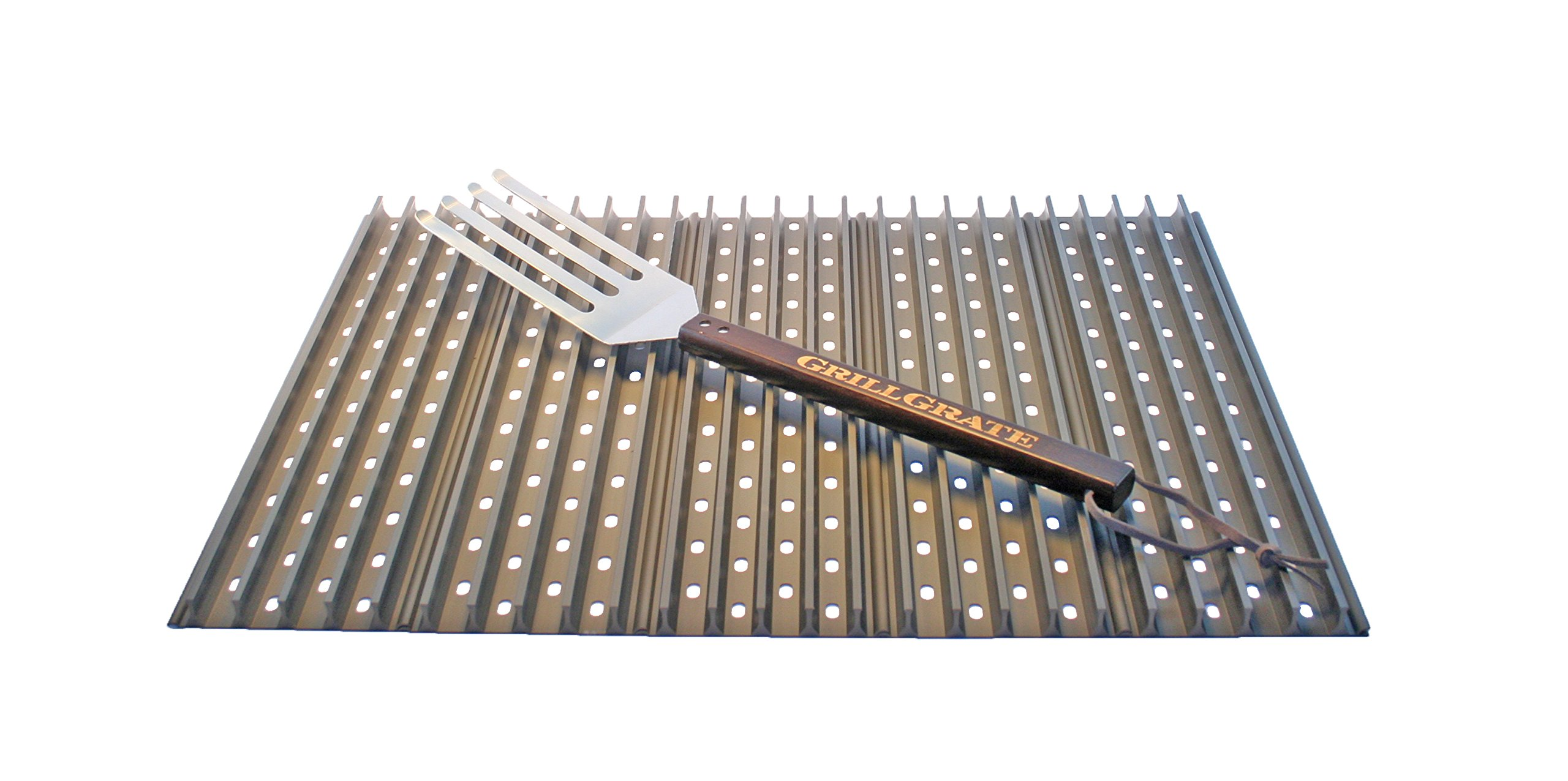 5 Panel GrillGrate Sets of 19.25'' (Interlocking) + GrateTool by GRILL GRATE BRAND THE ORIGINAL RAISED RAIL DESIGN GET FIRED UP · WWW.GRILLGRATE.COM