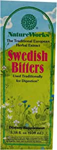 NatureWorks Swedish Bitters Traditional European Herbal Extract Used for Digestion, 3.38 fl. Ounce