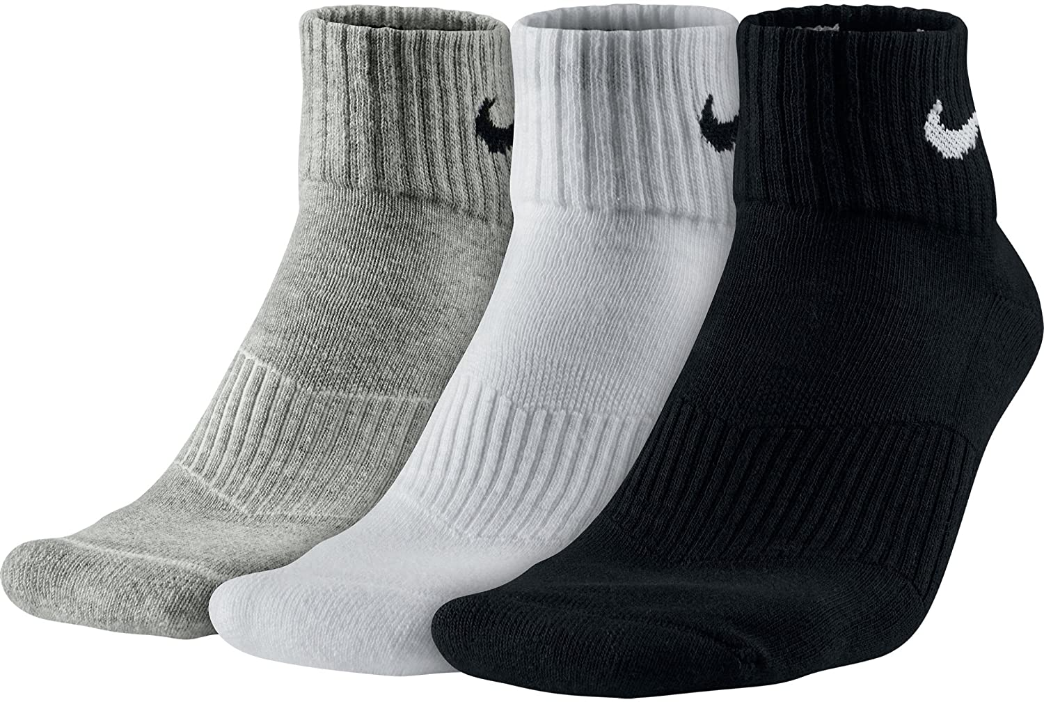 Fielmente Natura Empresario  Buy Nike SX4703-901 3PPK Cushion Quarter Socks, XXX-Large Online ...
