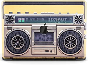 Mertak Hard Case Compatible with MacBook Pro 16 Air 13 inch Mac 15 Retina 12 11 2020 2019 2018 2017 Hipster Protective Cover Music Girl Plastic Tape Recorder Clear Boombox Print Vintage Retro