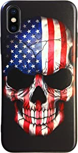 Sweepstakes: iPhone X Case American Flag Skull Scratch and Shock Resistant…
