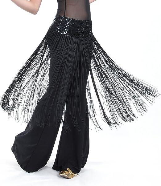 Hip Scarf Sequin Fringe Skirt Car exhibition dress Hot Dance TOP Sequined Top