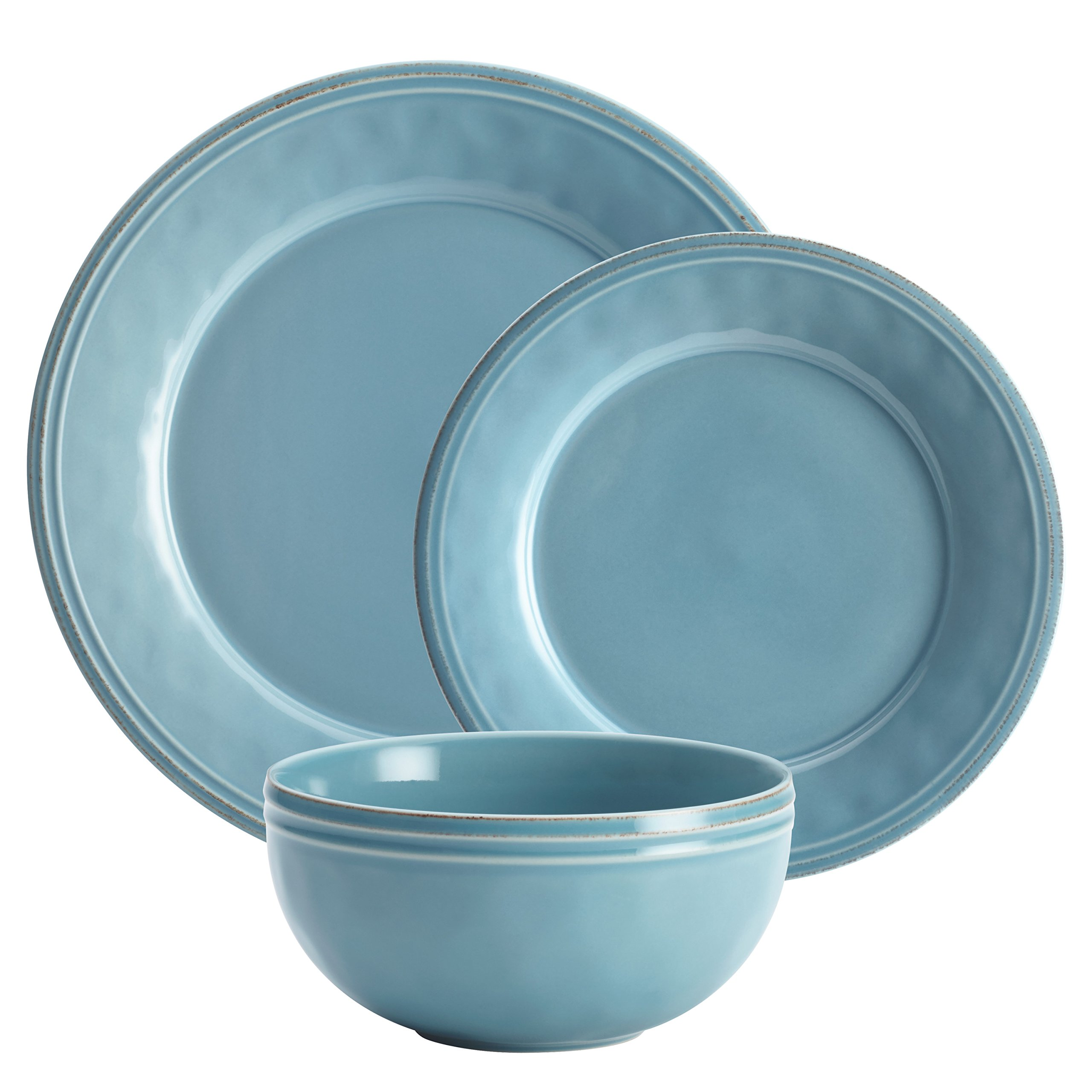 Rachael Ray Cucina Dinnerware 16-Piece Stoneware Dinnerware Set, Agave Blue by Rachael Ray (Image #11)