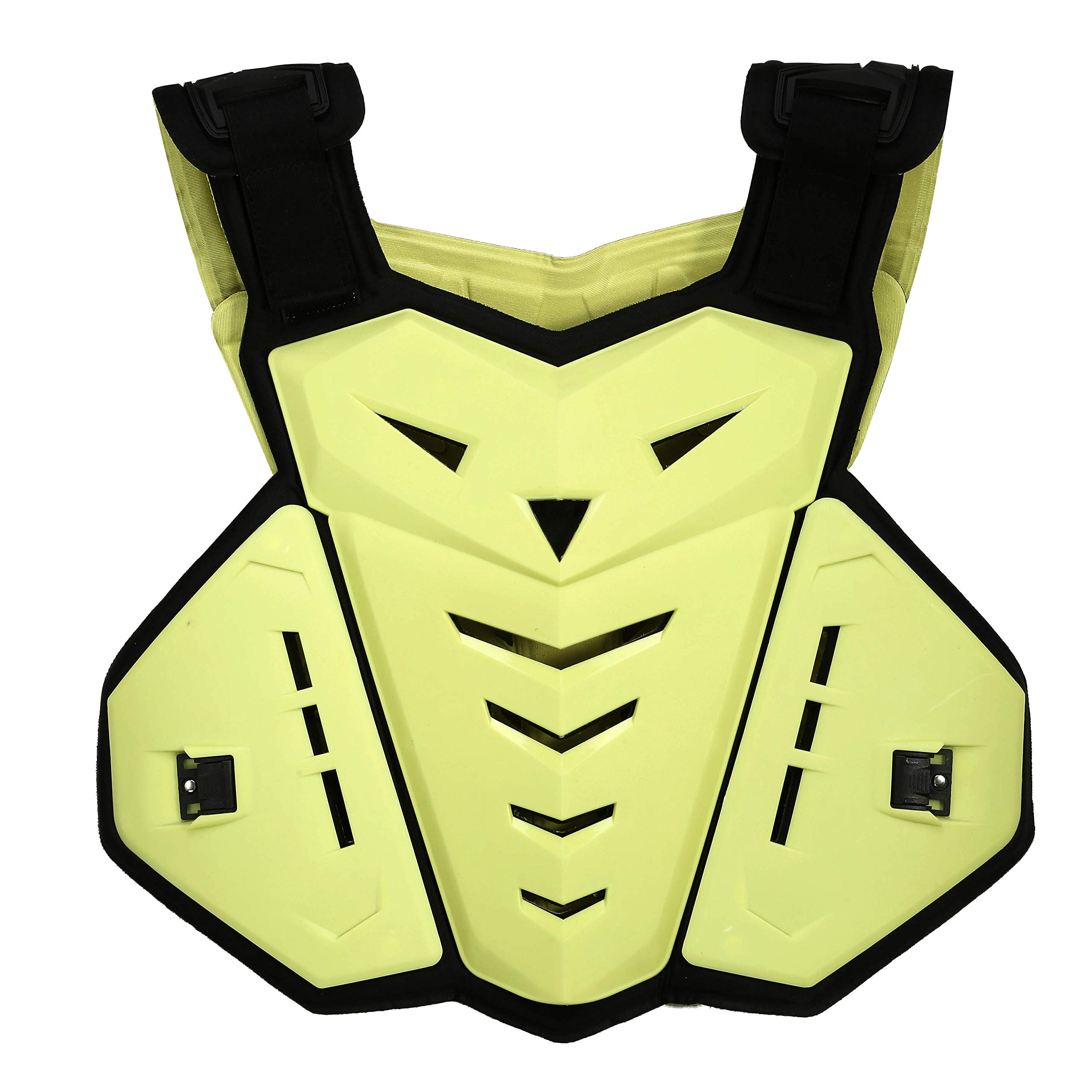 OHMOTOR Chest Back Protector Motorcycle Armor Vest Motorcycle Riding Chest Armor (Yellow)
