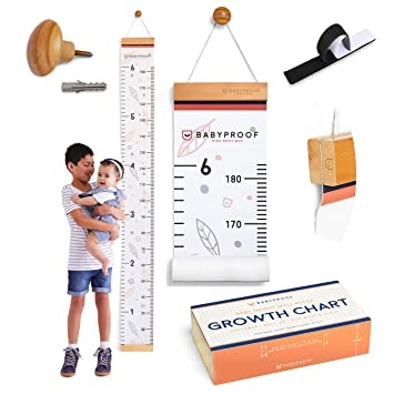 Meaningful Memories Through Kid Size Chart Measurement Measuring Height Chart and Kids Decor Growth Chart for Kids by Baby Proof Night Sky Growth Chart Ruler for Wall with Wooden Keepsake Box
