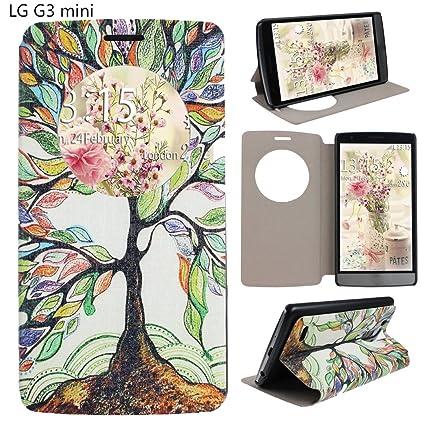 LG G3 MINI D782 Funda Tapa,Asnlove Funda de Cuero libro ...