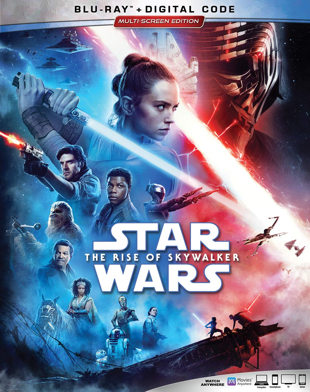 Amazon Com Star Wars The Rise Of Skywalker Blu Ray Carrie Fisher Mark Hamill Adam Driver Daisy Ridley John Boyega Oscar Isaac Anthony Daniels Naomi Ackie Domhnall Gleeson Richard E Grant Lupita Nyong O Keri