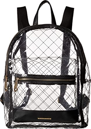 6138231d56a Amazon.com  Rampage Womens Clear Quilted Dome Backpack Black One Size   Clothing