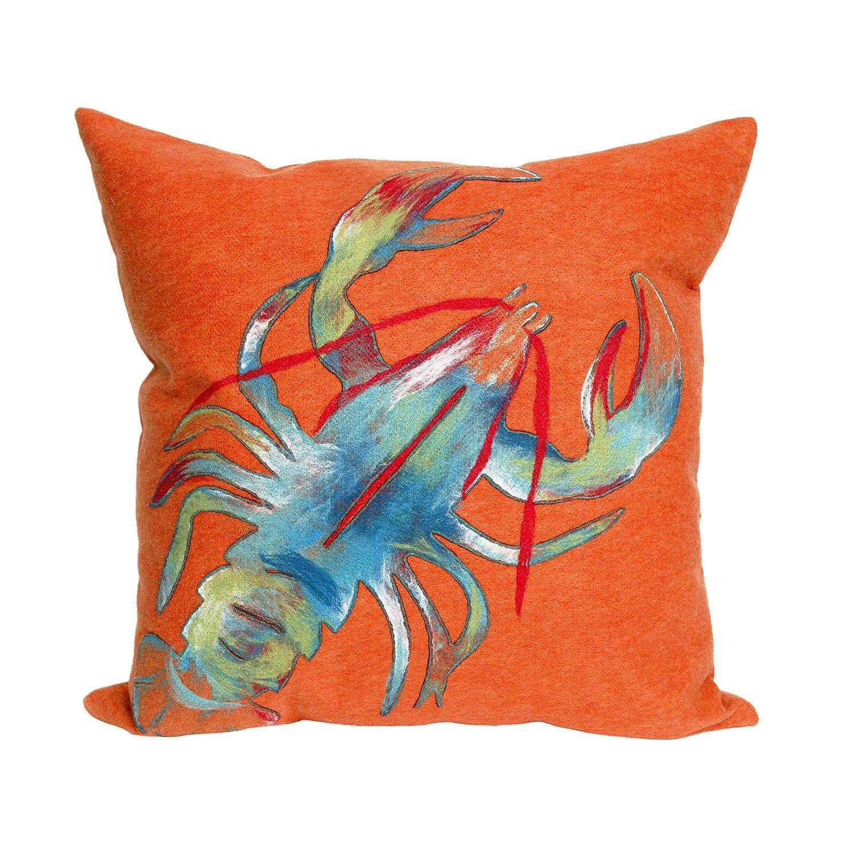 Liora Manne Visions II Lobster Indoor Outdoor Pillow, 20 X 20 Square, Orange