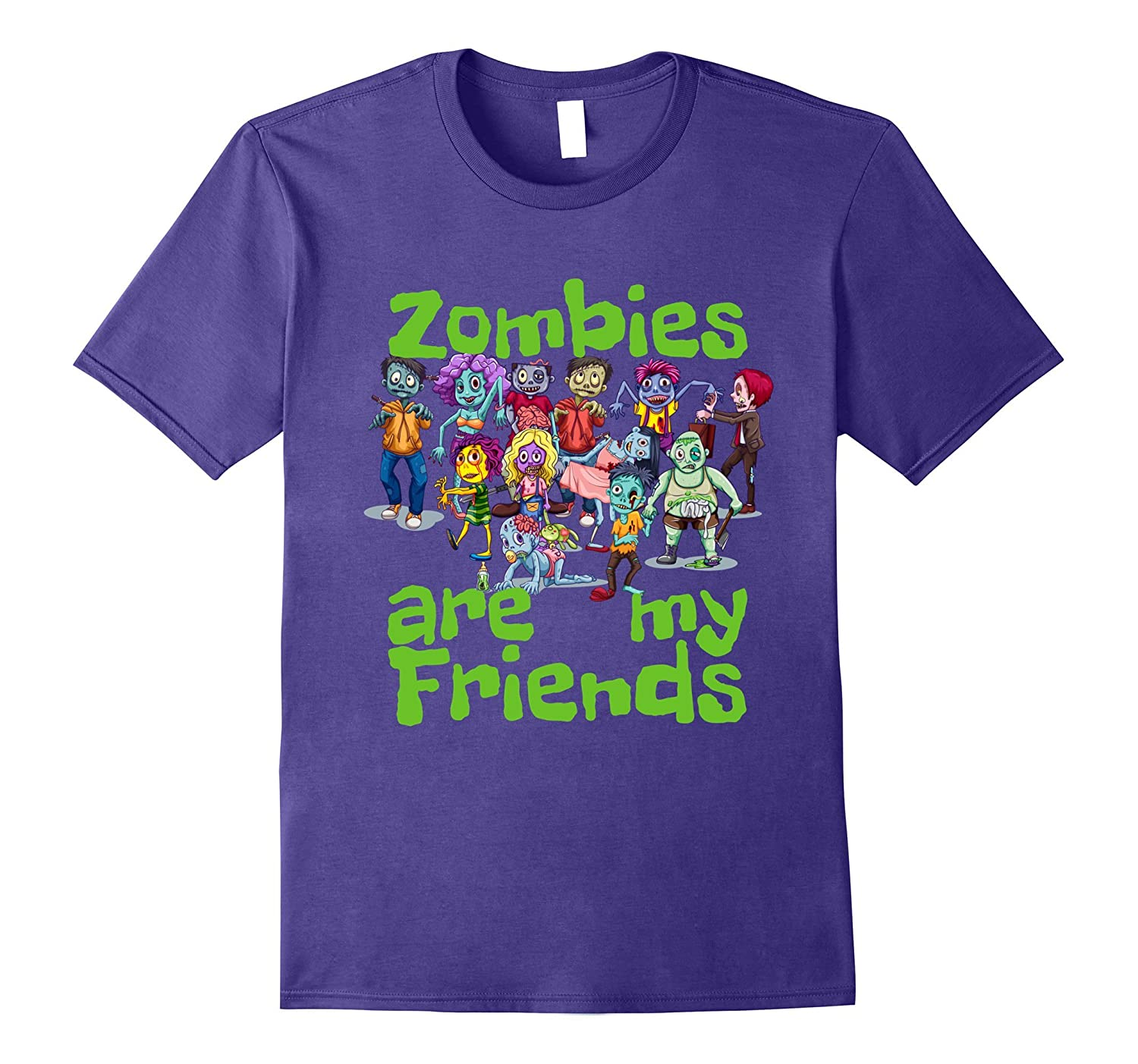 Zombies Are My Friends Halloween T-Shirt-ah my shirt one gift