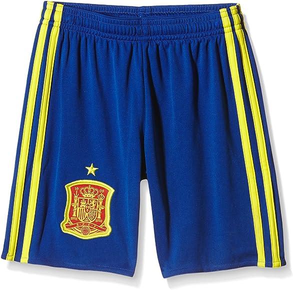 adidas 1ª Equipación Federación Española de Fútbol Euro 2016 - Pantalón Corto para niños, Color Azul/Amarillo/Rojo, Talla 164: Amazon.es: Zapatos y complementos