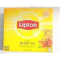 Lipton Black Tea Bags 100% Natural Tea 100 ct (Pack of 2)