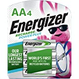 Energizer Rechargeable AA Batteries, NiMH, 2300 mAh, Pre-Charged, 4 count (Recharge Power Plus)