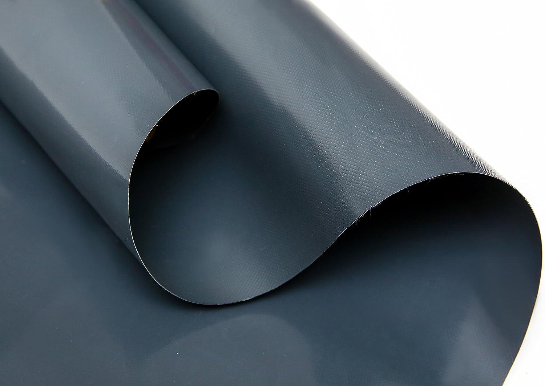 B/âche de camion en PVC 720 g//m/² Vendu au m/ètre sans /œillets gris Diff/érentes tailles