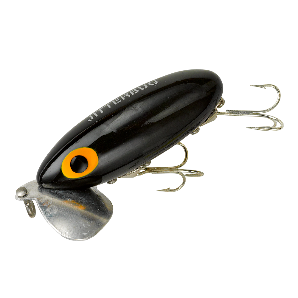 Arbogast lure company jitterbug fishing lure for Spinner fishing lures