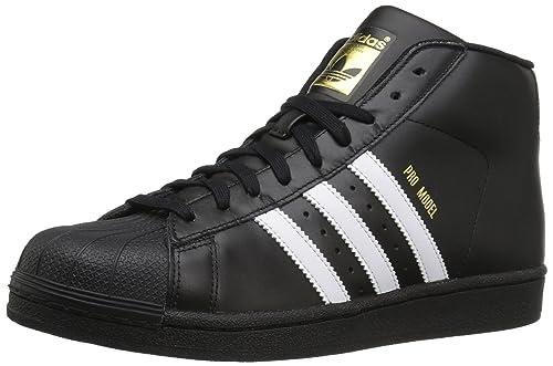 huge discount 153f1 cbd59 adidas Originals Men s Pro Model Running Shoe, Black White Metallic Gold,