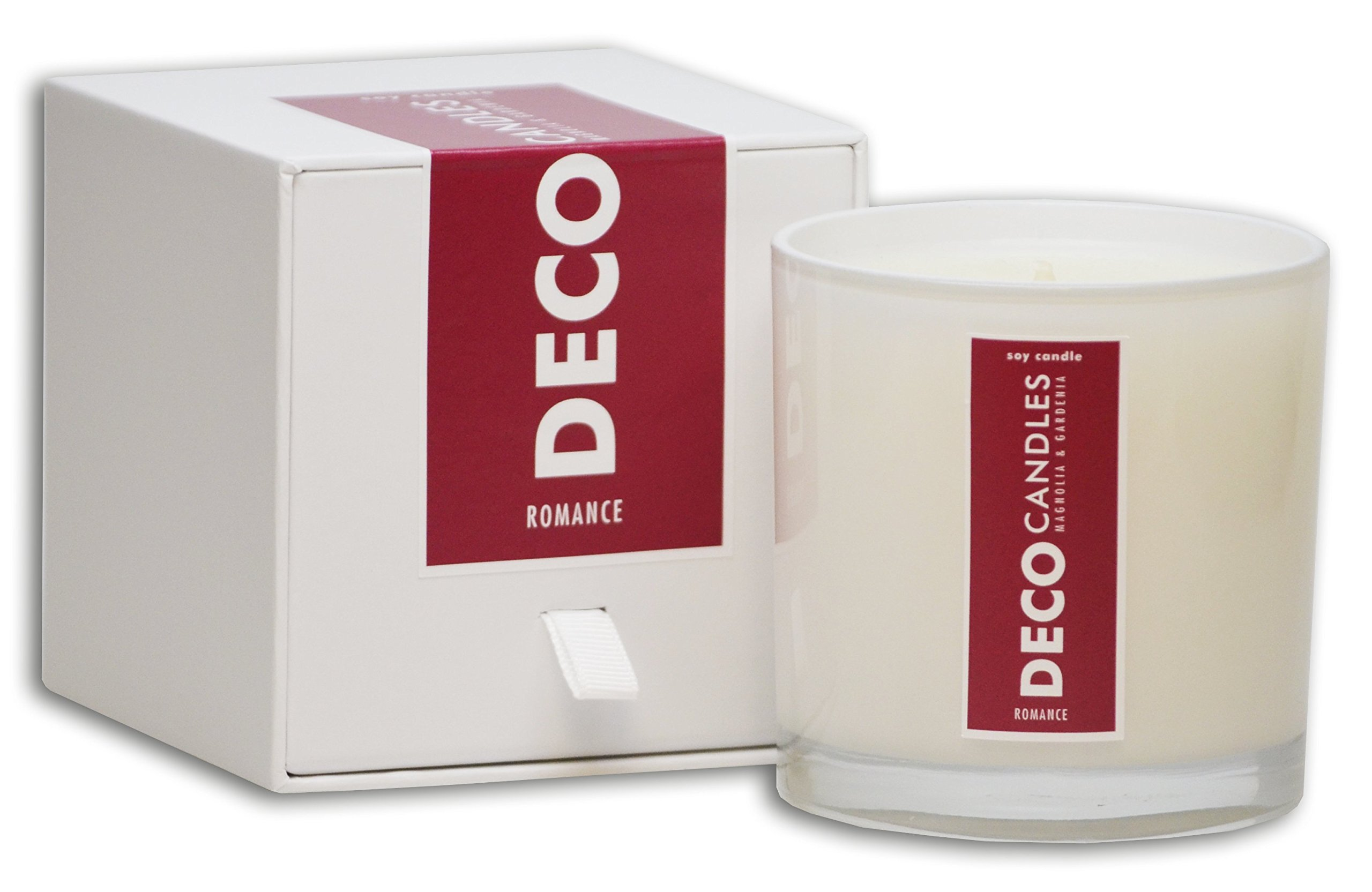 DecoCandleS | Romance- Magnolia & Gardenia - Highly Scented Candle - Long Lasting - Hand poured in the USA - Hotel Inspired Collection - 9 Oz.