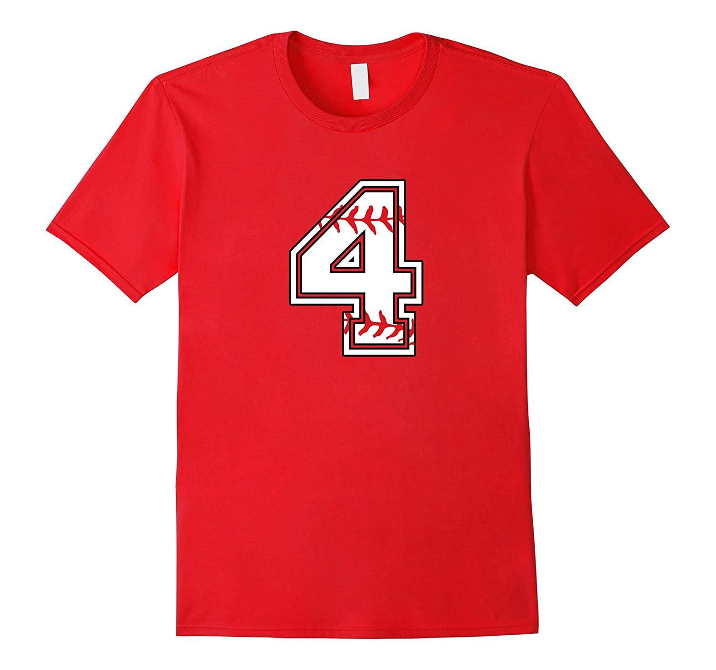 Birthday Number T Shirt For 4 Years Old Kids Vaci Vaciuk