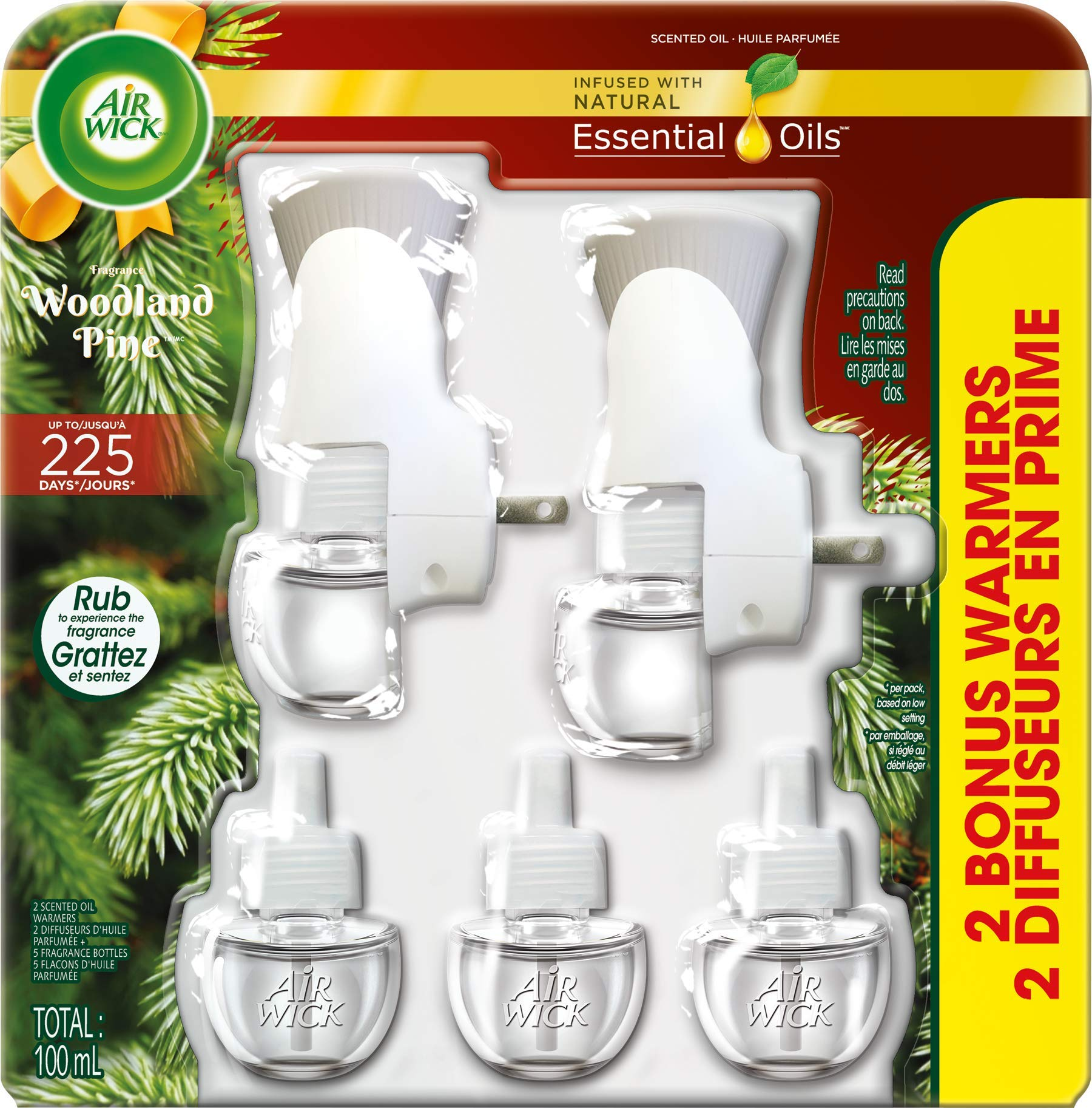 Amazon.com: Air Wick Holiday Scented Oil Kit (2 Warmers + 5 Refills), Woodland Pine, Air Freshener: Health & Personal Care