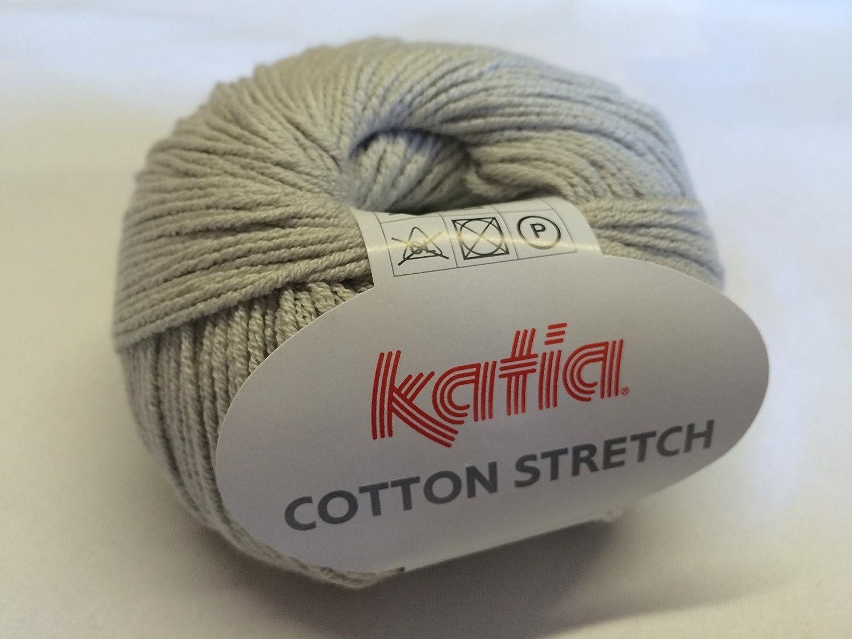 Katia algodón stretch 013 Silver Cloud 50 g lana: Amazon.es: Hogar