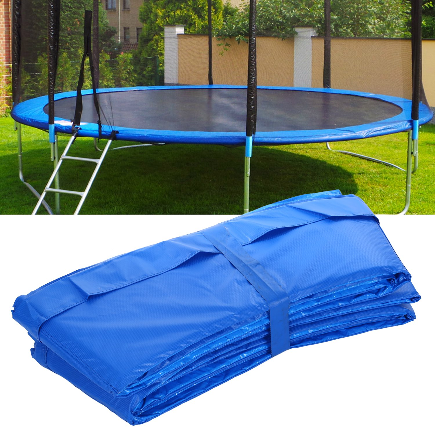 15 14 12 10 Ft Replacement Trampoline Surround PVC Pad Foam Safety Spring Cover Padding Pads (Blue, 15 Ft) by Zafuar Sports (Image #7)