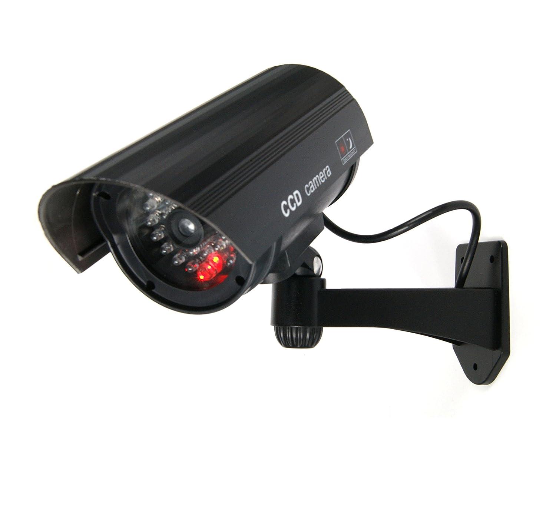 Negra Dummy Fake Cámara Vigilancia Falsa cámara de vídeo con LED rojo, 4x Dummy Kamera: Amazon.es: Bricolaje y herramientas