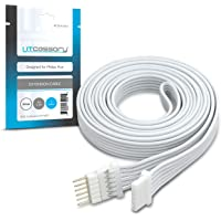 Litcessory Verlengkabel voor Philips Hue Lightstrip Plus (1m, Pakket van 1, Wit)
