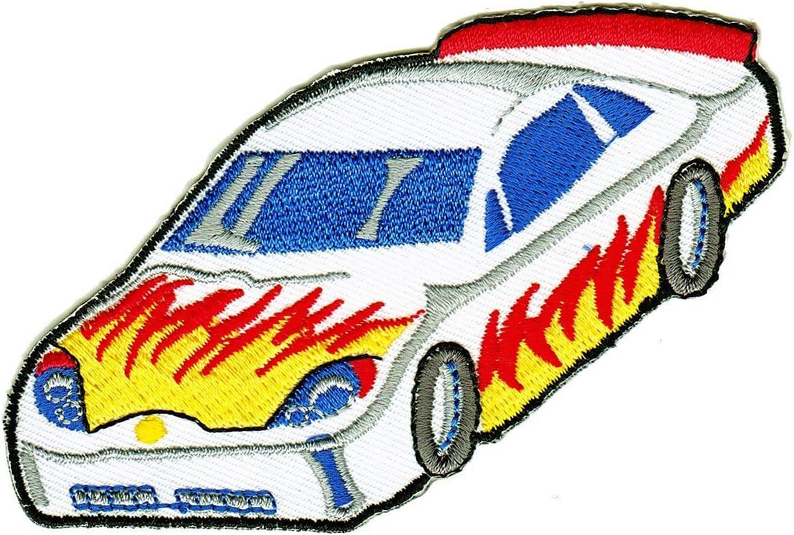 Aufn/äher B/ügelbild Rally Racing Tuning Auto Flammen Rennwagen