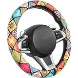SEG Direct Mandala Pattern Microfiber Leather Car Steering Wheel Cover for Women Girls, Standard Size for 14.5 in-15 in…
