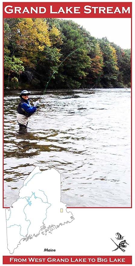 Grand Lake Stream Maine Map.Amazon Com Grand Lake Stream 11x17 Fly Fishing Map Fishing