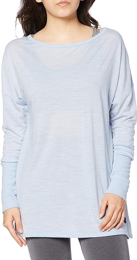 super.natural Damen W Comfort Slash Printed Merino Longsleeve