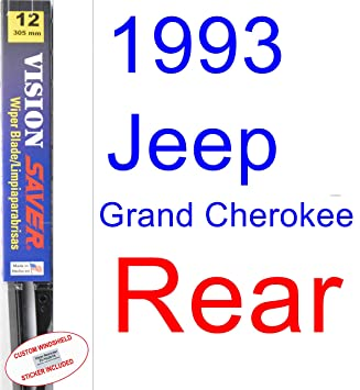 Amazon.com: 1993 Jeep Grand Cherokee Wiper Blade (Rear) (Saver Automotive Products-Vision Saver): Automotive