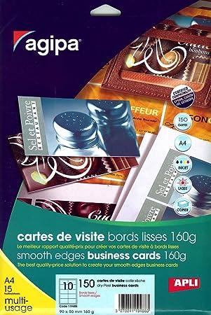 Apli 119488 Samt 150 Visitenkarten Mit Glatten Kanten 160 G 90 X 50 Mm