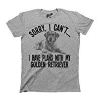 Sorry I Cant I Have Plans With My Golden Retriever Dog T-Shirt Mens Ladies Unisex Fit