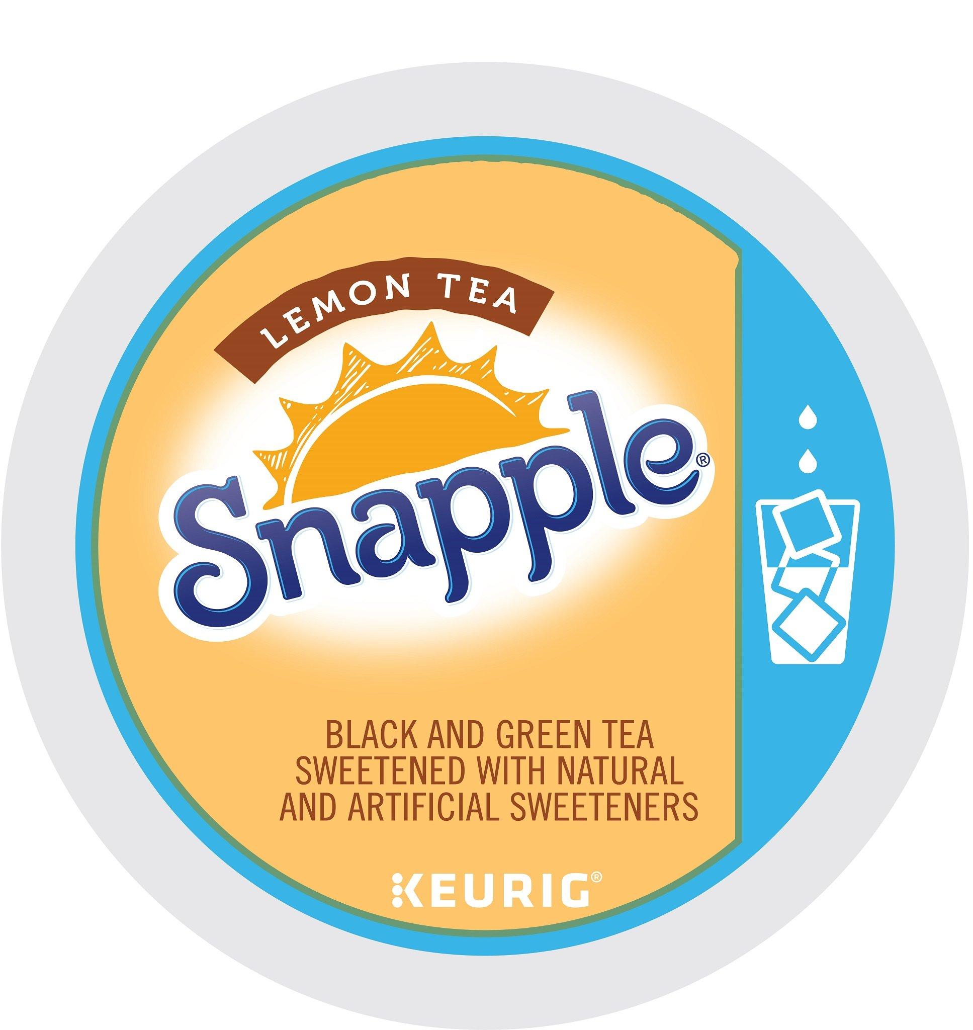 Keurig, Snapple, Lemon Iced Tea, K-Cup packs, 12 Count, (Pack of 6) by Snapple
