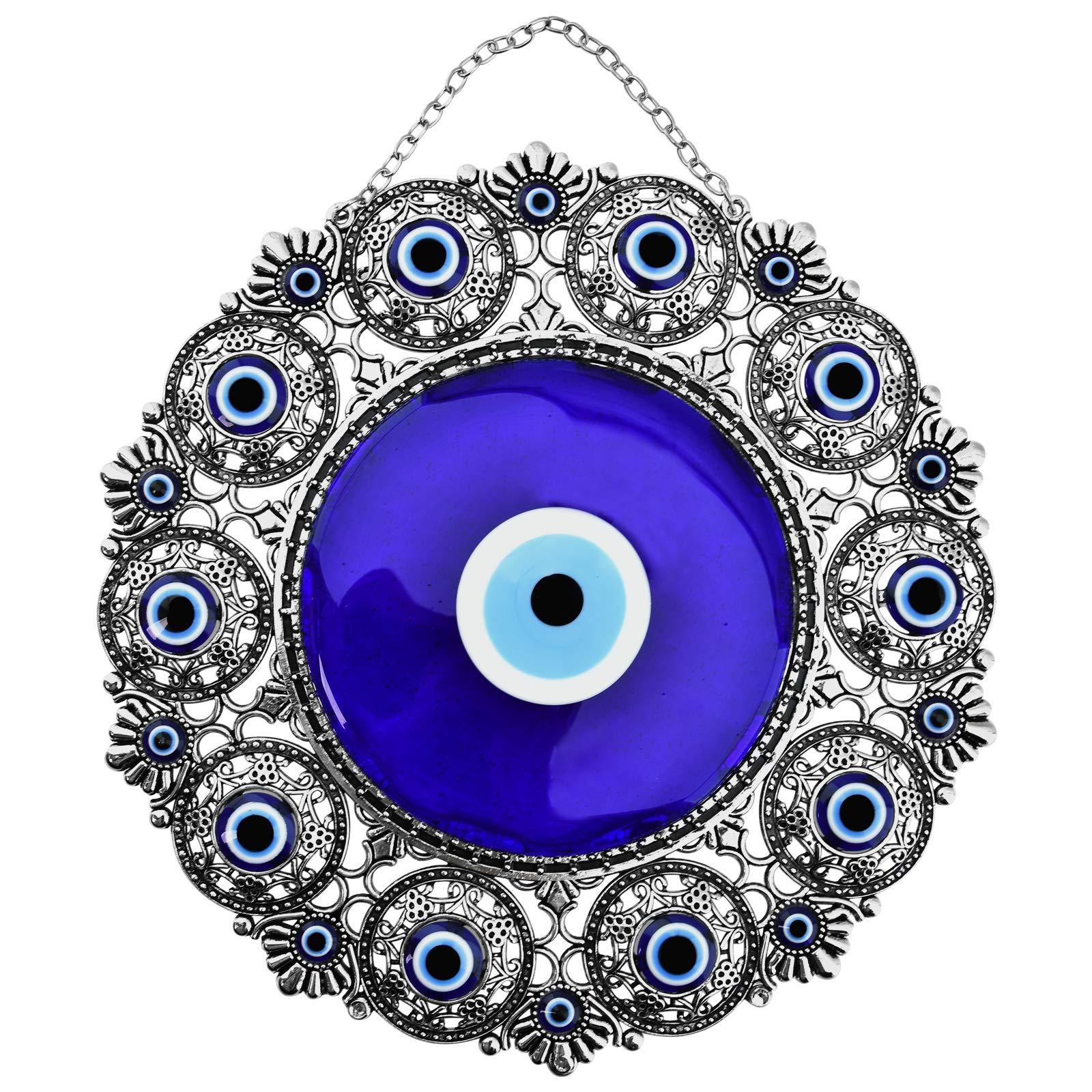 Erbulus Turkish Big Glass Turkish Evil Eye Bead Home Protection Charm-Hanging Ornament Wall Decor (Blue Eye) (Blue Eye) by Erbulus