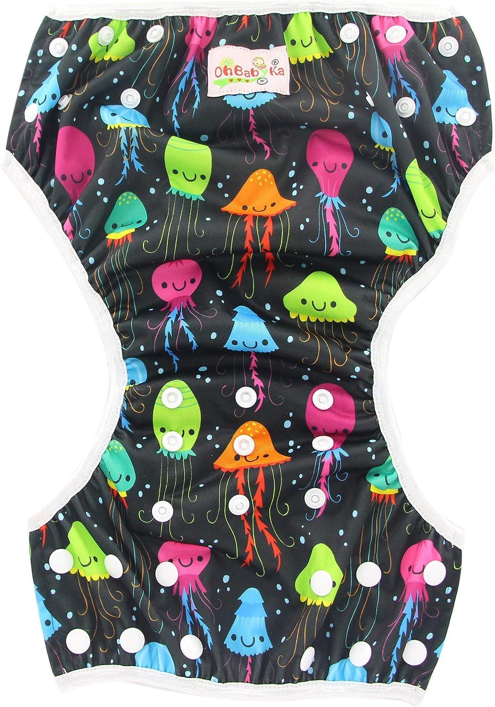 Baby Diapering YK50-56 OHBABYKA Swim Diapers 2pcs Pack One Size ...