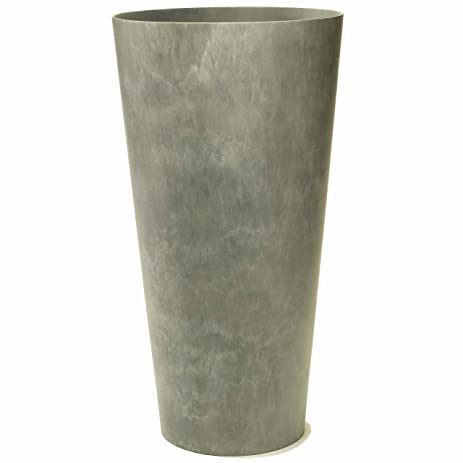Artstone Napa Tall Planter, Gray, 13.5 Inch