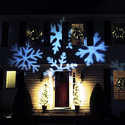 northlight outdoor led snowflake christmas light projector with remote control