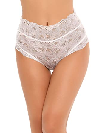 88949c9845 Bifast Women s Hollow Out Thongs Lace G-string Sexy Panties High Waist  Bandage Underwear Briefs