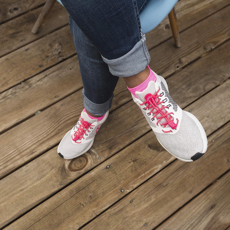 LOCKLACES - Cordones elásticos sin nudo, para zapatillas - 1 par: Amazon.es: Hogar